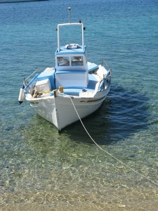 Greek boat sea
