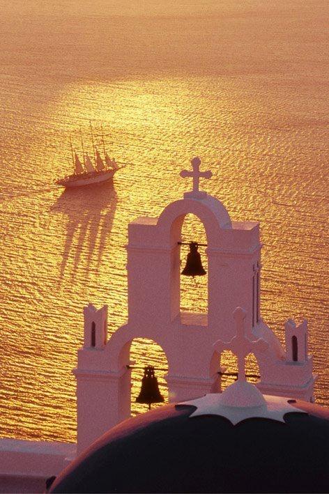 Santorini, Greece, sunset