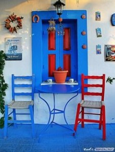 colorful images of Greece