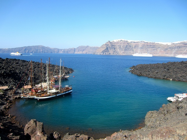 Thirasia, Greece - Harbour at the Volcano