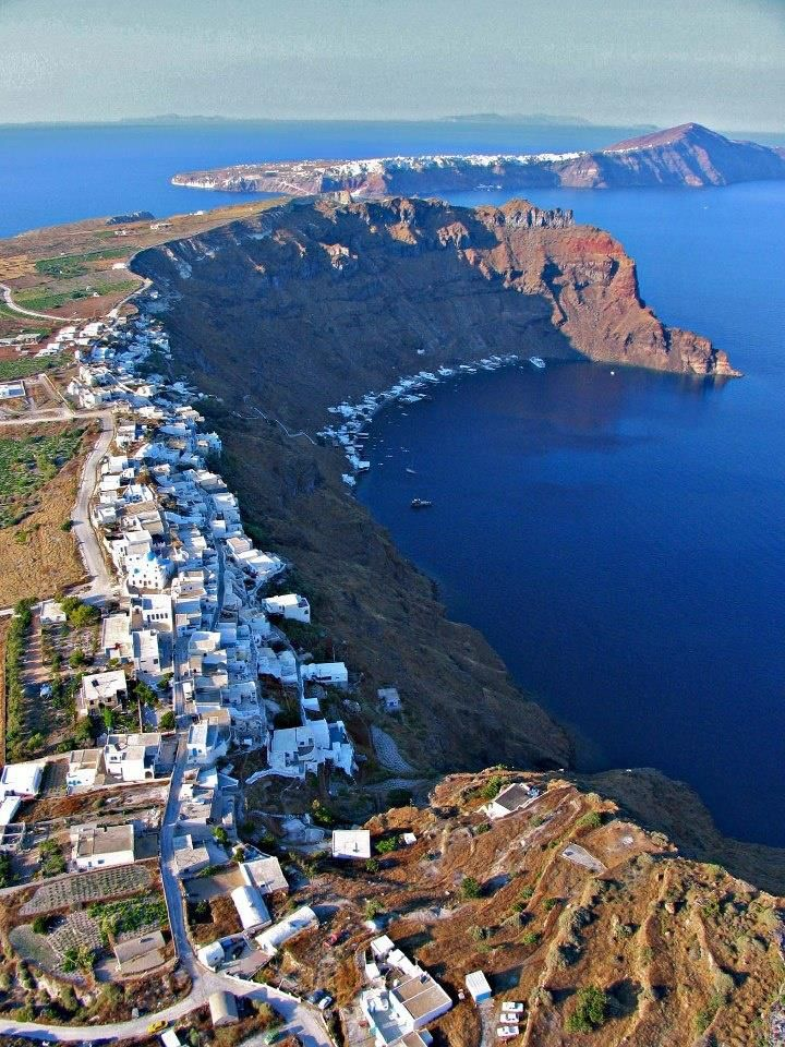 Thirasia, the small island opposite of Santorini