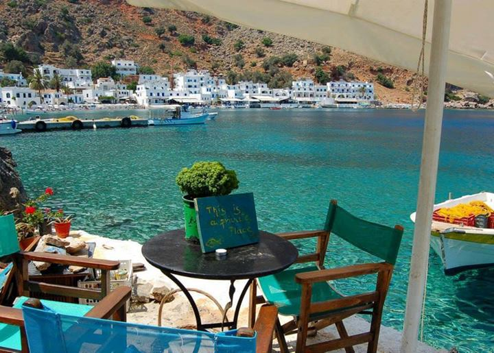 Loutro village A popular resort with crystal clear waters