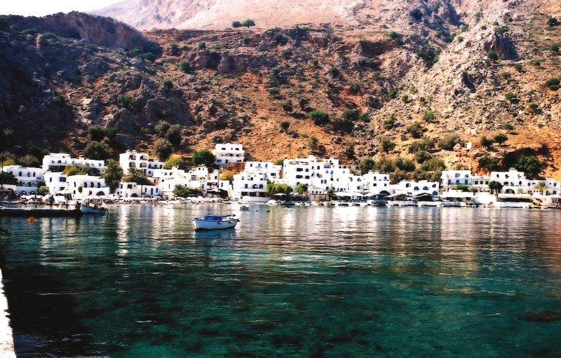 Loutro village A popular resort with crystal clear waters1