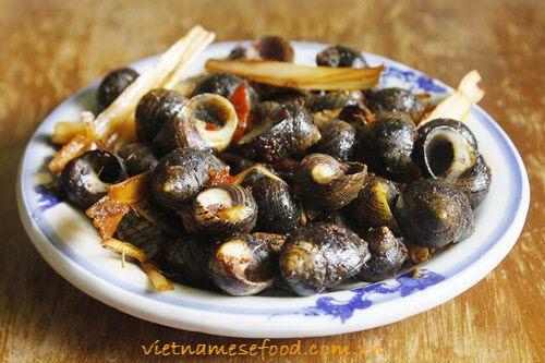 Fried snails
