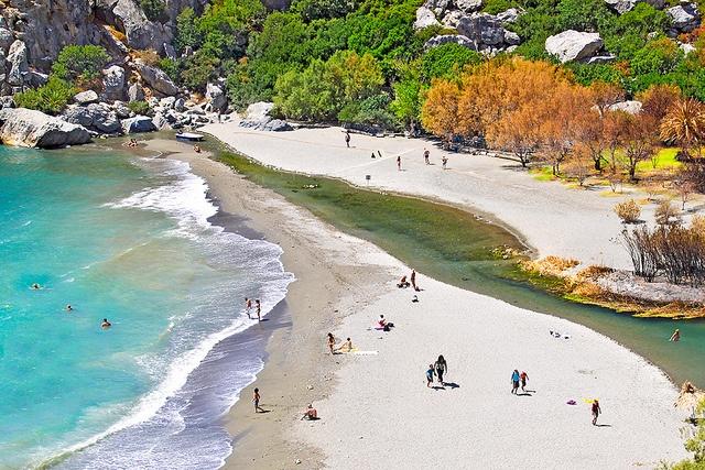 Preveli Beach and River