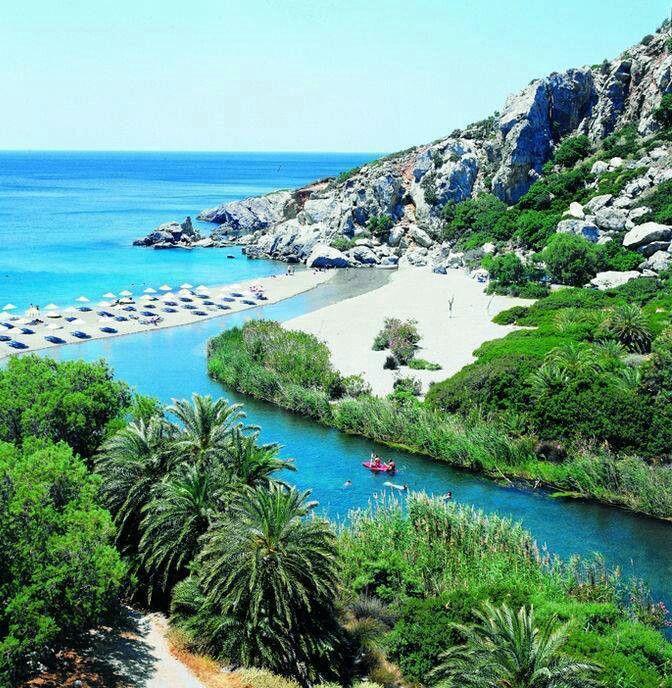 Preveli beach, South of Crete island