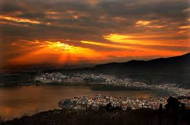 Kastoria the sunset