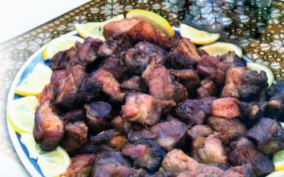 Traditional fried pork
