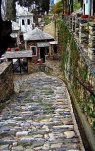Street in Makrinitsa Pilio