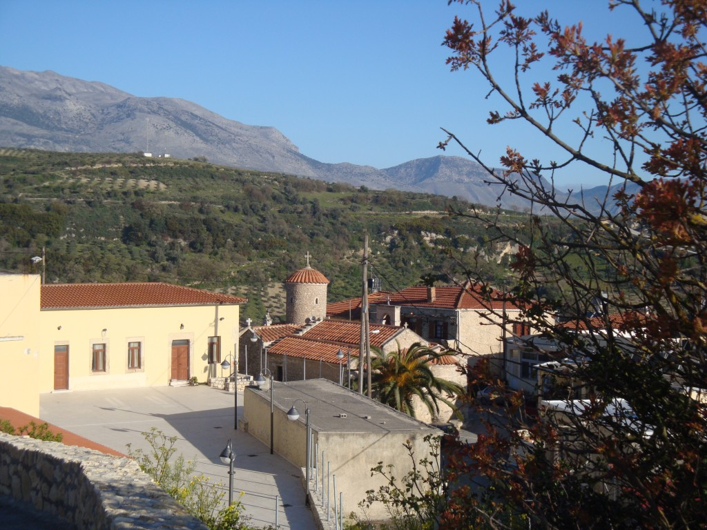 The old school and the church Agios Thomas