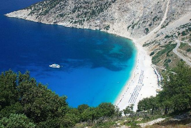 myrtos kefalonia, greece